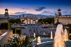 Montjuic Fountains | Barcelona With Family